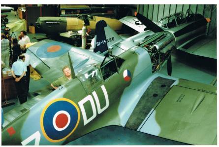 Visita a Hawker Restoration Hurricane Maio 1997 013
