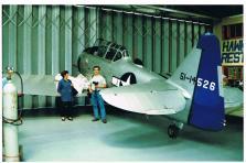 Visita a Hawker Restorations, Ldt. Harvard ex português 0110